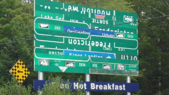 Is this road sign in Canada the world's most confusing?