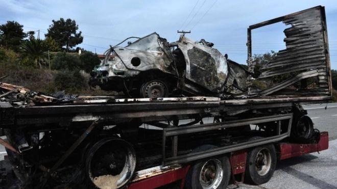 Greek road inferno 'kills 11 migrants'