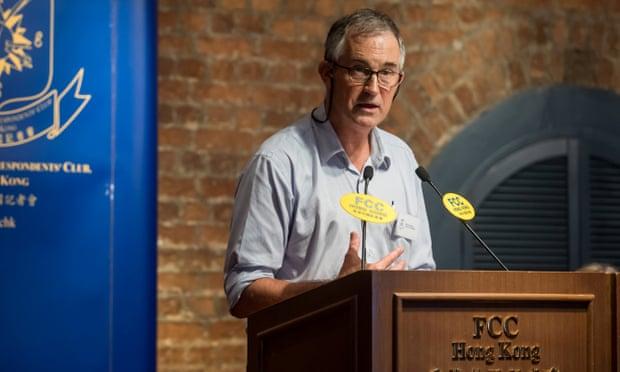 Britain condemns Hong Kong's banning of UK journalist