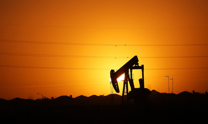 Oil lower in volatile trade after Wednesday rebound