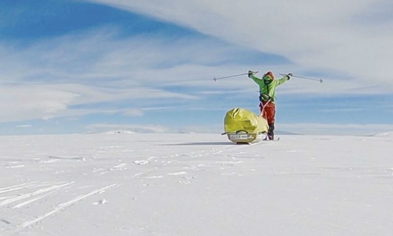 American Becomes First to Travel Across Antarctica Alone and Unaided