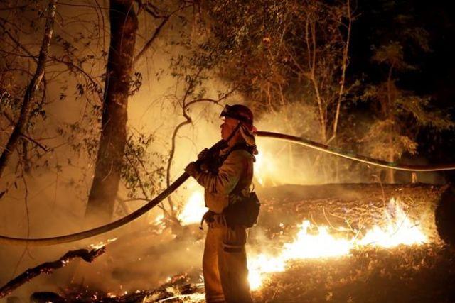 Private gear started blaze