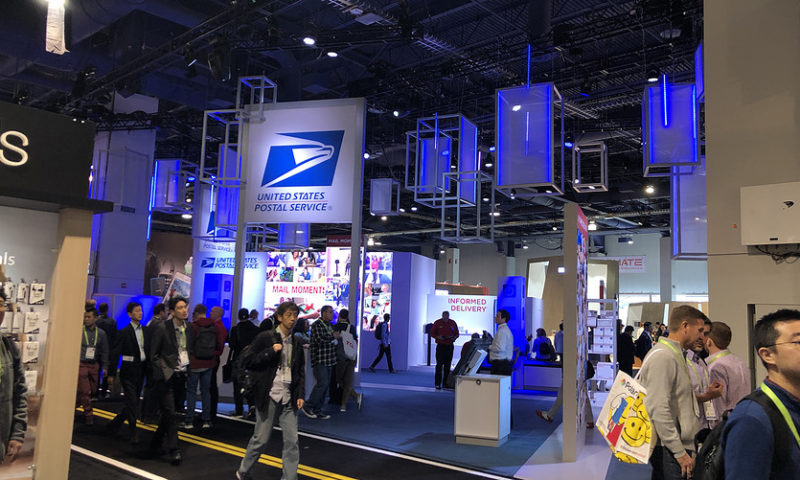 Why was the U.S. Postal Service at CES?
