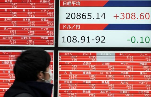 World shares mostly higher