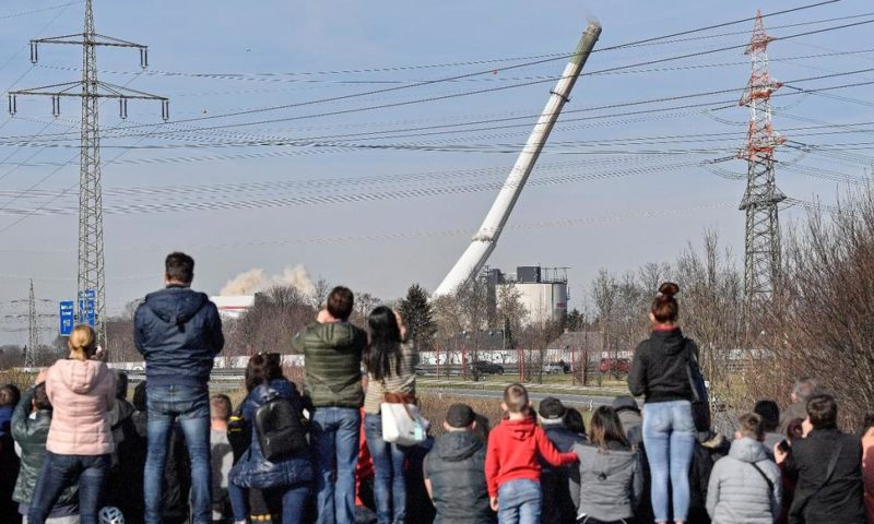 Former Coal-Fired Power Plant Is Demolished in Germany