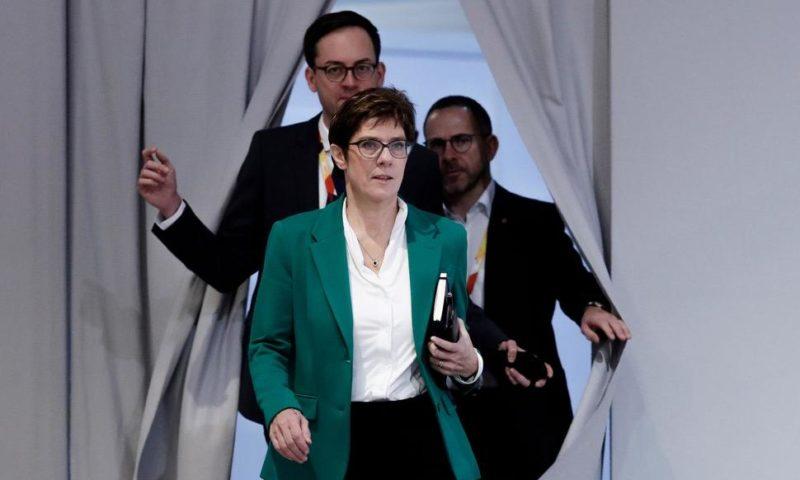Merkel Successor Backs Macron's EU Call, Floats Own Ideas