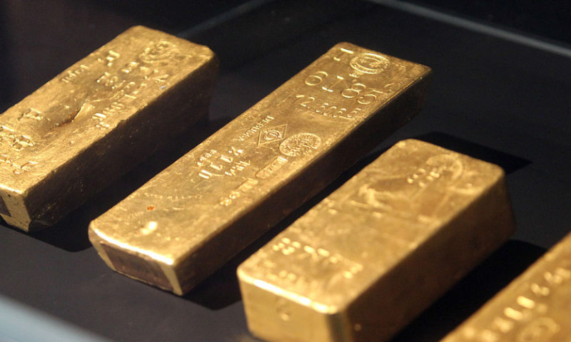 Gold rebounds on dollar slump, stock uncertainty after S&P's run