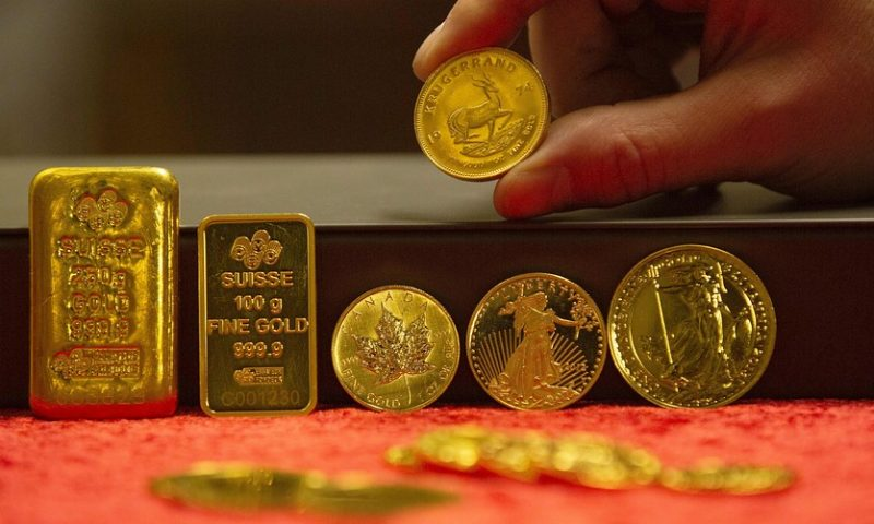 Gold futures settle at 14-month high