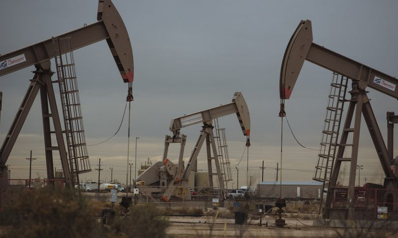 Oil prices settle at roughly 5-month low as data show U.S. supplies climbing