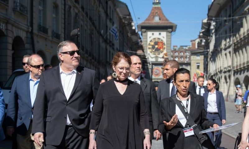Pompeo Visits Elite Event as Trump Policies Raise Questions