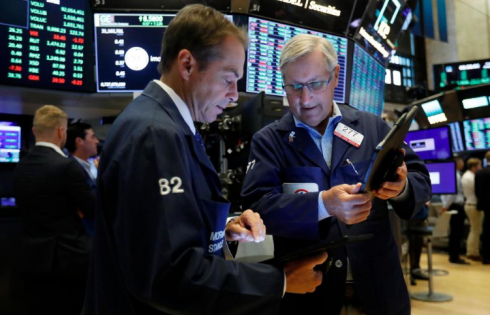 US Stock Indexes End Mixed Ahead of Fed Chairman Speech