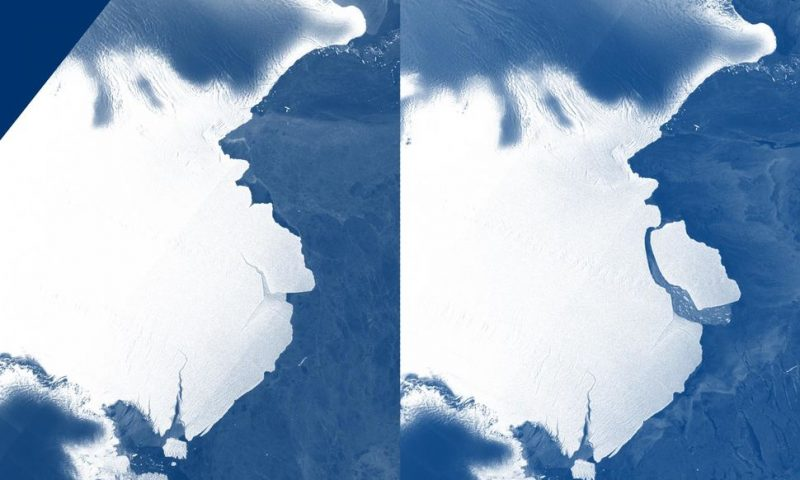 Giant Iceberg Larger Than Los Angeles Breaks Off Antarctica