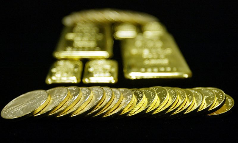 Gold settles off session lows after data show weakness in U.S. manufacturing