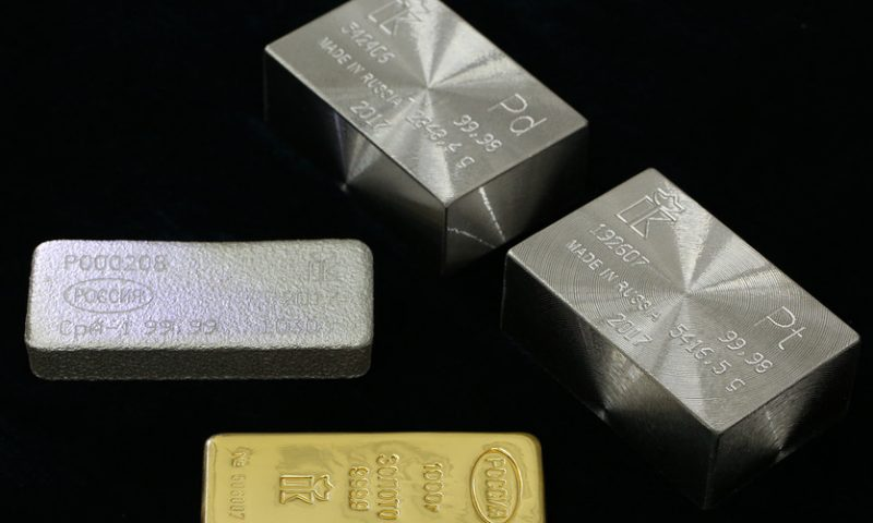 Gold prices tally a second day of losses as Mideast tensions recede