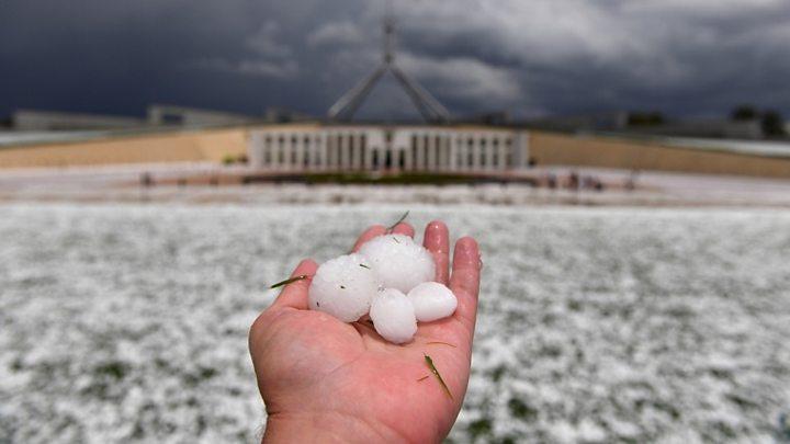 Australia fires: Storms wreak damage but bushfires 'far from over'