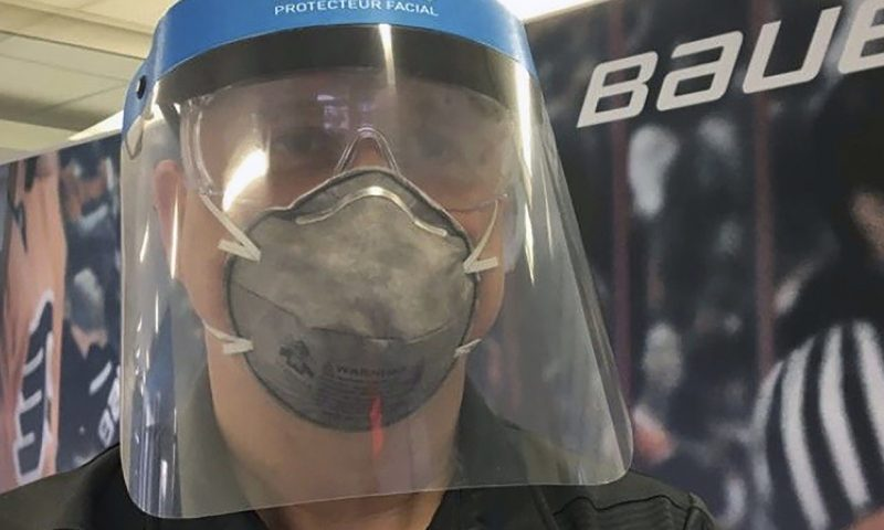 Bauer shifts from making hockey masks to medical shields