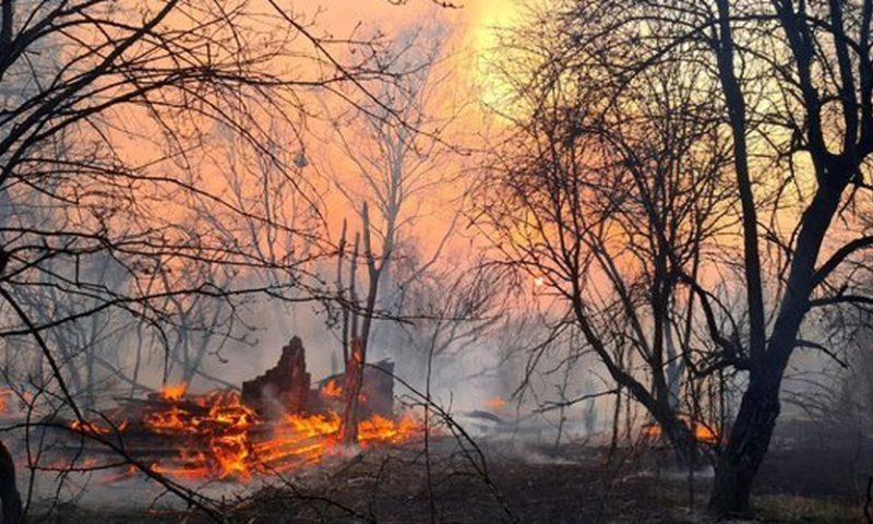 Wildfires 'edge closer to Chernobyl nuclear plant'