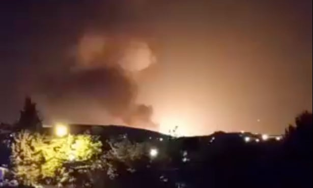 Iran explosion: large blast seen near military base outside Tehran