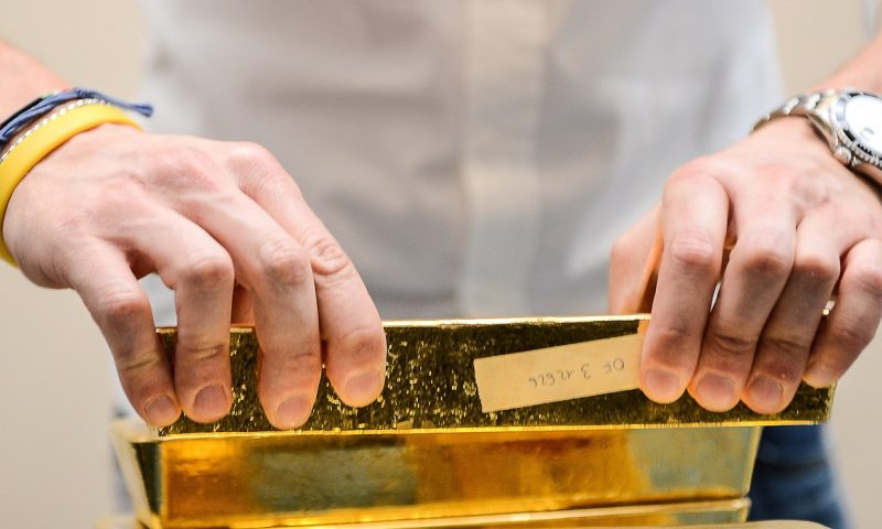 Gold futures settle at nearly 9-year high