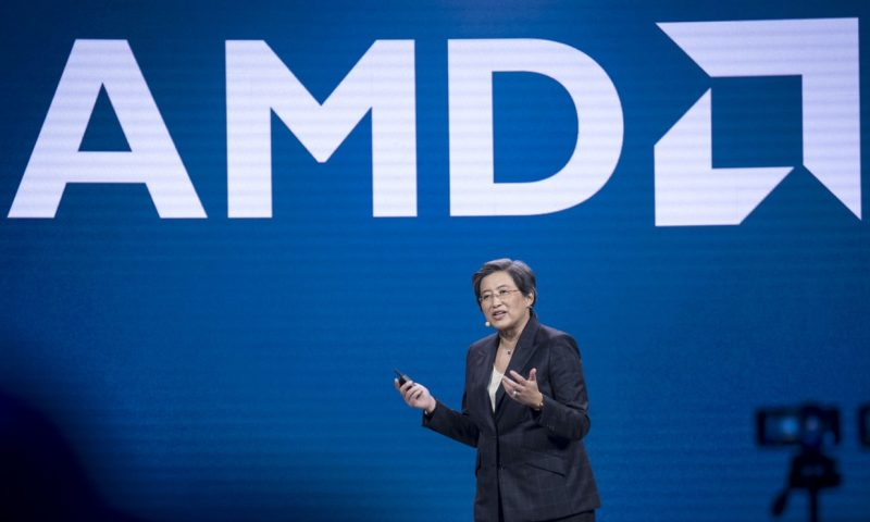 AMD stock heads toward record high after beating on earnings, raising annual forecast