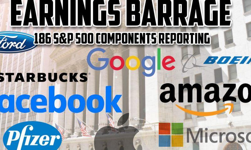 Stock-market investors brace for busiest week of earnings in October's final hurrah
