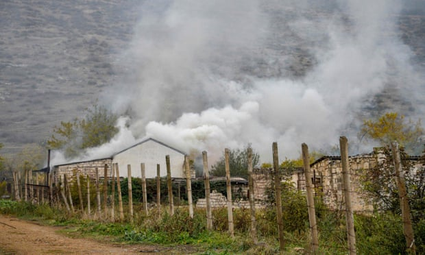 Nagorno-Karabakh: Azerbaijan troops begin retaking land from Armenia