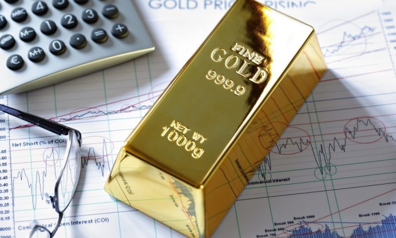 Gold futures end higher for the session, down for the week