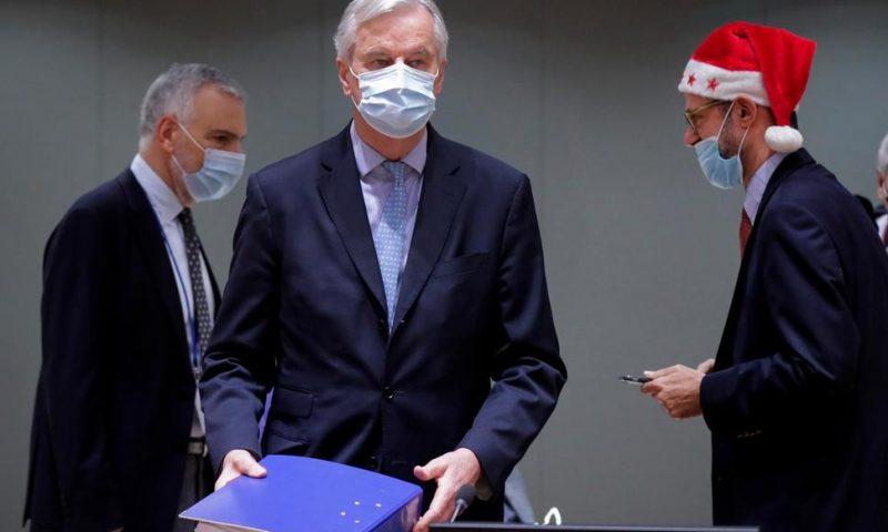 EU, UK Unveil Vast Trade Pact Set to Enter Force on Jan 1
