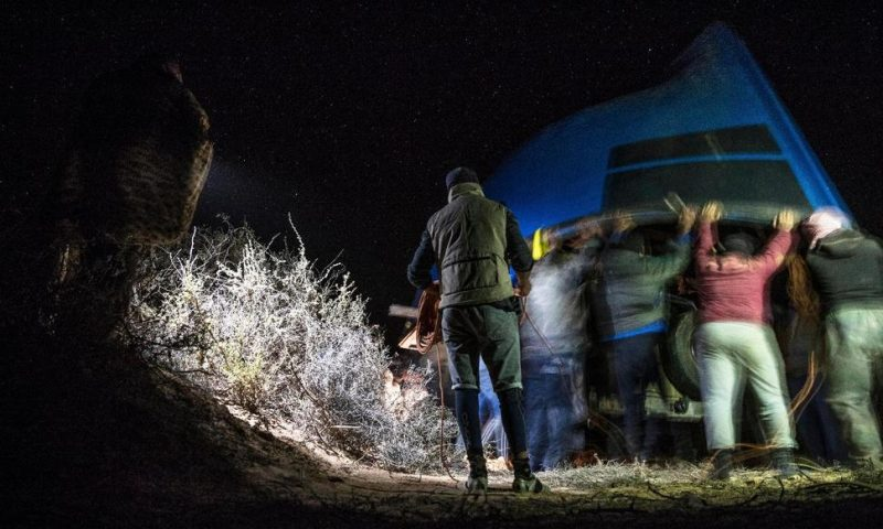 Boats Emerge From Sahara Sand to Transport Migrants to Spain