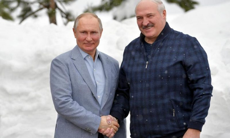 Russia's Putin Hosts Belarusian President for Talks in Sochi