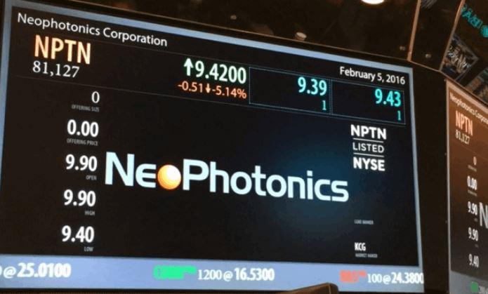 NeoPhotonics Corporation (NPTN) Soars 7.37%