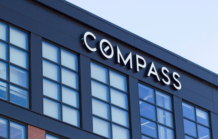 Compass shares soar 18% in trading debut