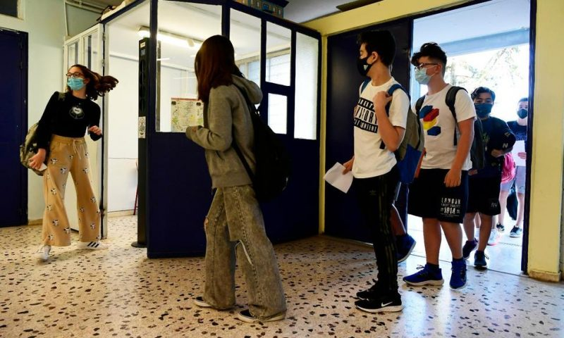 Greece Welcomes Young Students Back to School; Courts Reopen