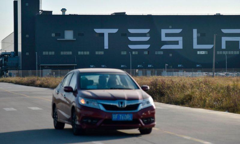 Tesla stock falls again after downbeat China sales data