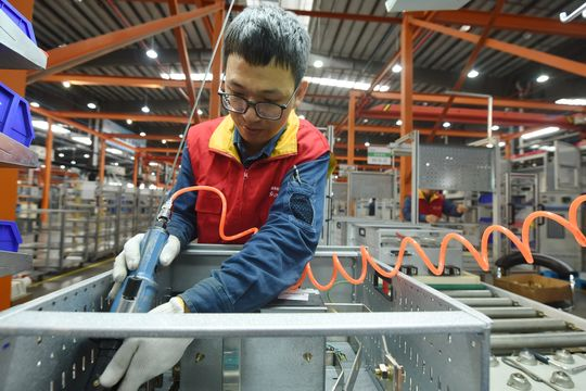 Asian markets gain even as China's manufacturing slows