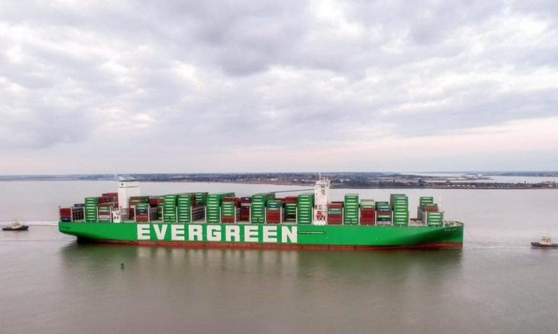 World's largest container ship arrives at Felixstowe