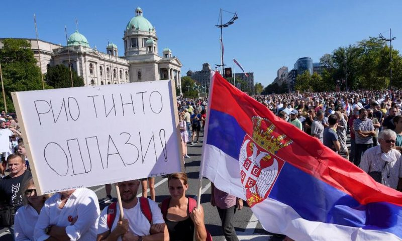 Serbs Protest Against Lithium Mining, Other Eco Problems